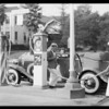 Dorothy Christy & 76 gas, Southern California, 1931