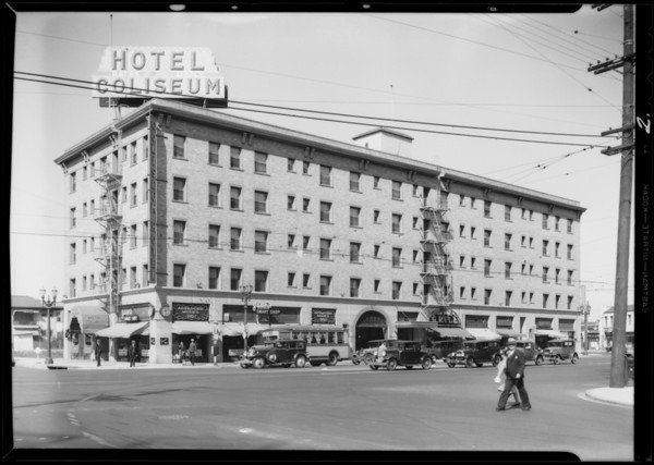 Coliseum Hotel, Los Angeles, CA, 1932