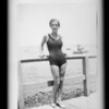Snapshot of bathing girl, Southern California, 1932