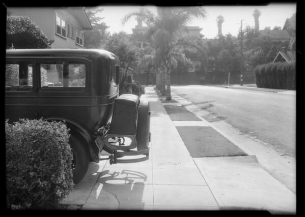 Car in driveway, 1862 West 24th Street, Los Angeles, California, 1932