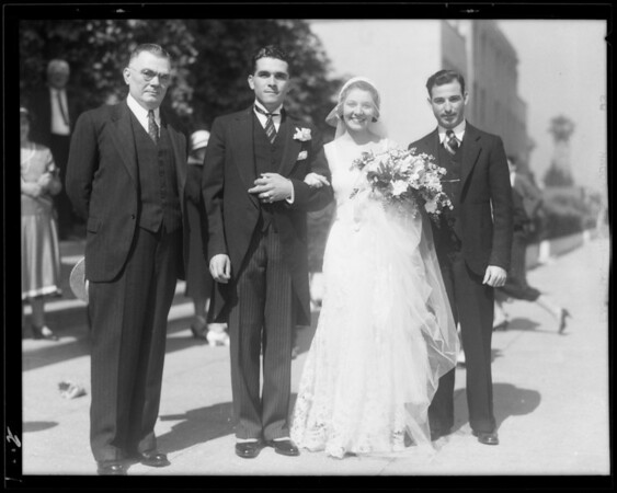 Wedding of Louie Abuada, Southern California, 1932