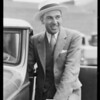 Mr. Joseph Call endorsing Shell gasoline, Southern California, 1933
