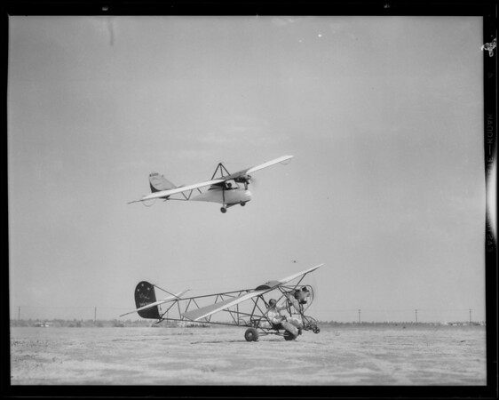 New air model & trainer in action, Southern California, 1931