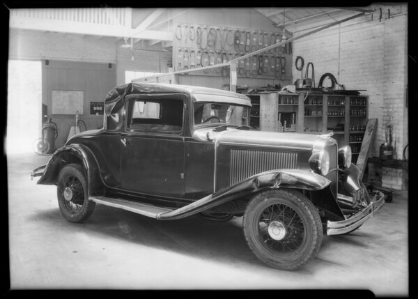 Dodge coupe, Southern California, 1931