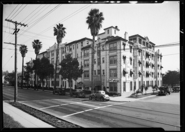 Piccadily and Franklin Plaza apartments, Southern California, 1931