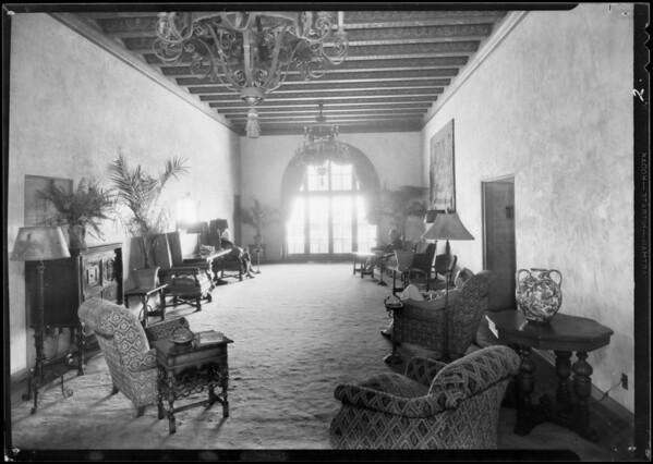 Beach club, Southern California, 1933