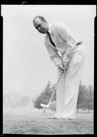 Fred Morrison, golf professional, Pasadena, CA, 1933