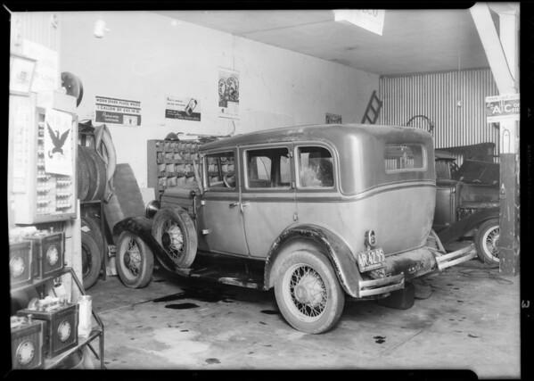 Chevrolet sedan, Katherine M. Barr, assured, Inglewood, Southern California, 1933