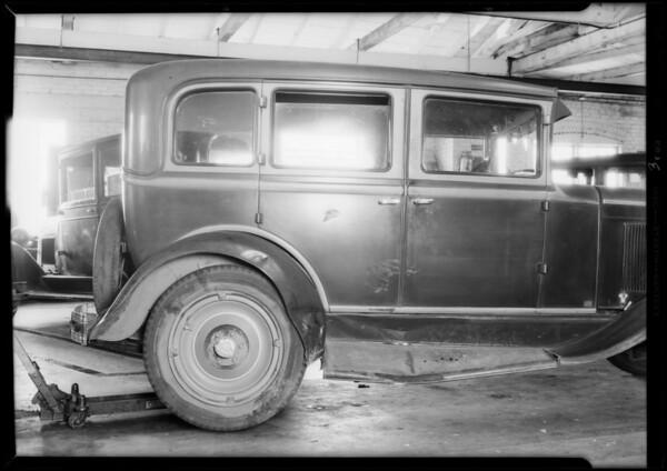 Chevrolet sedan, Terhune owner, Jones vs. Terhune, Southern California, 1932