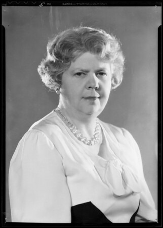 Portraits of Miss Adams, Miss Peterson and Mrs. Helen Fargutiar, Southern California, 1933