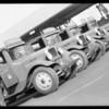 New trucks, Southern California, 1932
