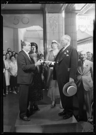 Golden Jubilee celebration, May Co., 803 South Broadway, Los Angeles, CA, 1931