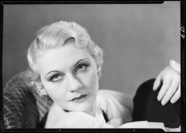 Portrait of Muriel Mullen, Southern California, 1933