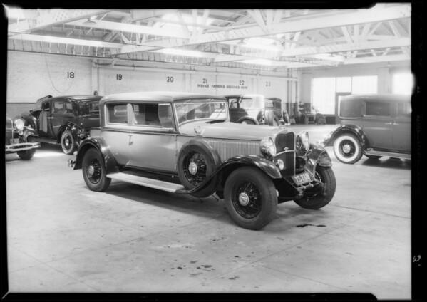 Lincoln sedan, Metropolitan Casualty, Southern California, 1933