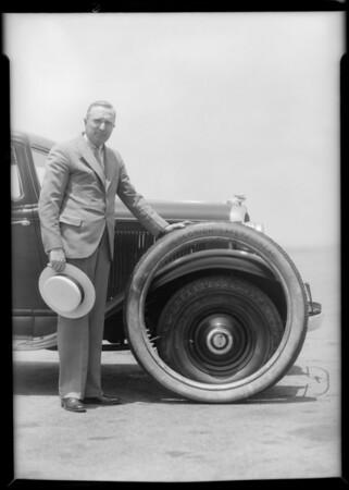 Air wheels at airport, Southern California, 1932