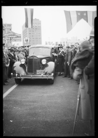 Opening of Westlake Bridge with Roscoe Turner, Southern California, 1934