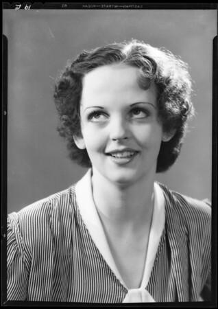 Portrait of Mary Carey, 5833 La Mirada, Southern California, 1933