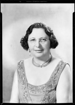 Mrs. Rosencranz, portrait, Southern California, 1933