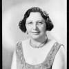 Mrs. Rosencranz, portrait, Southern California, 1933