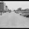 Hup coupe and West 9th Street and South Hobart Boulevard intersection, Southern California, 1931