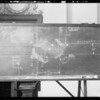 Blackboard, La Bell vs Hood, Southern California, 1931