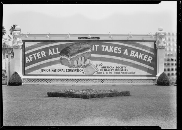 Bakery engineers bulletin board, Southern California, 1932