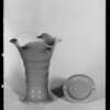 Vase & ash tray, Southern California, 1933