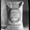 Sacks of cement, Southern California, 1931