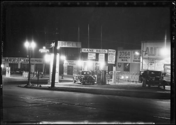 Hane Brothers service station, Southern California, 1934