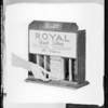 Display box with hand for post cards, Southern California, 1931