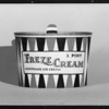 Freze Cream package, Southern California, 1932