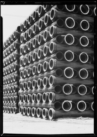 Pipe on Ducommun Street, Los Angeles, CA, 1932