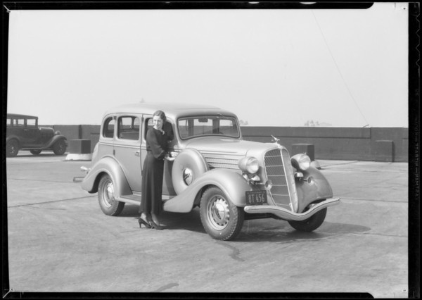 Packard and Terraplane for motorlogue composite, Southern California, 1935