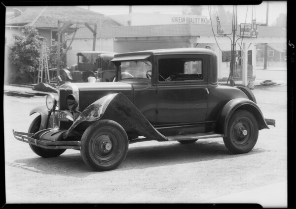 Chevrolet coupe and coach, Universal Auto Insurance, Southern California, 1933