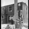 Construction of new homes, Lido Isle, Newport Beach, CA, 1932