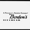 Copy & reverse & color, Borden's Farm Products, Southern California, 1932
