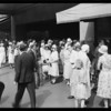 Crowds at 31st managers sale, Los Angeles, CA, 1931