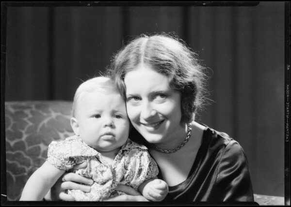 Mother & baby, Southern California, 1931