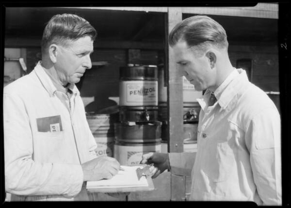 Portraits of Mr. Kemp and Jonathan, Eagle Rock, Los Angeles, CA, 1931