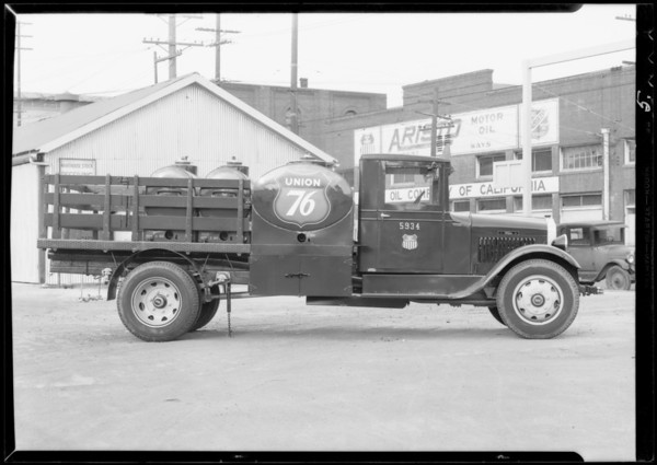 New trucks, Southern California, 1932