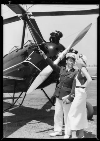 Autogiro, Jean Harlow & Tito Falconi, Southern California, 1933