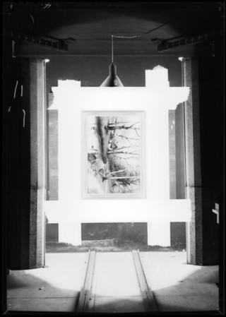 Paintings in frames, Southern California, 1932