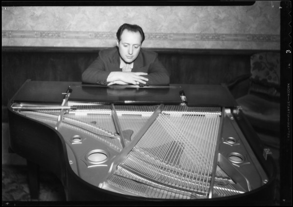 Ted Fio Rito at piano, Southern California, 1935