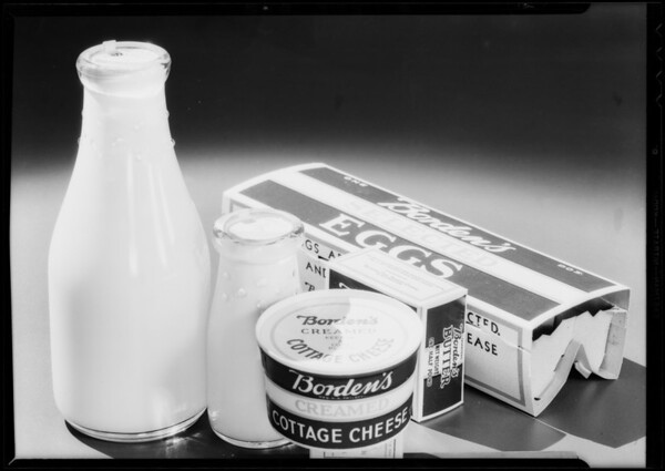 Milk, eggs, butter - group, Southern California, 1932