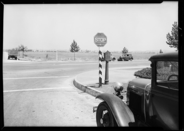 Intersection of 9th Street and Goodrich Street, Southern California, 1932