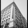 Corner of building looking up, Broadway Department Store, 401 South Broadway, Los Angeles, CA, 1932