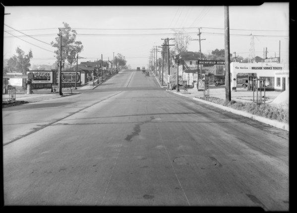 Intersection, North Alvarado Street and West Temple Street, Los Angeles, CA, 1932