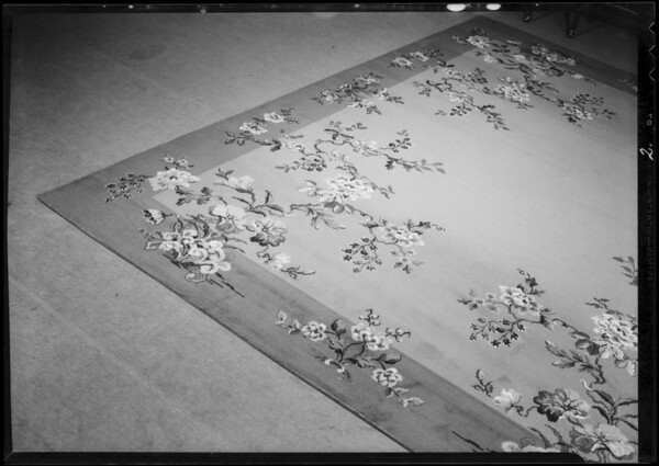 Rugs, Southern California, 1933