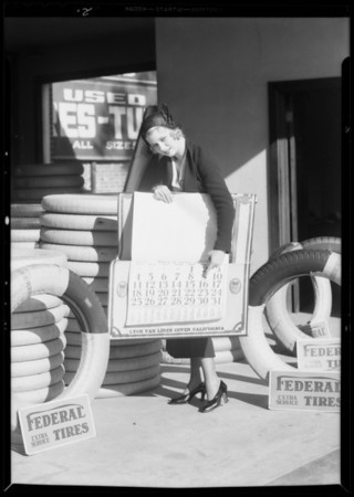 Publicity photos, Troy's Super Service, Southern California, 1932