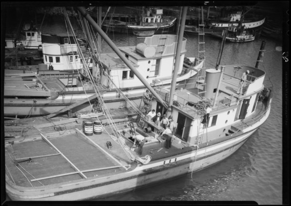Triton Oil used on fishing boats, Southern California, 1935